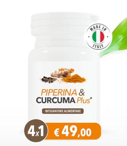 integratore Piperina e Curcuma Plus
