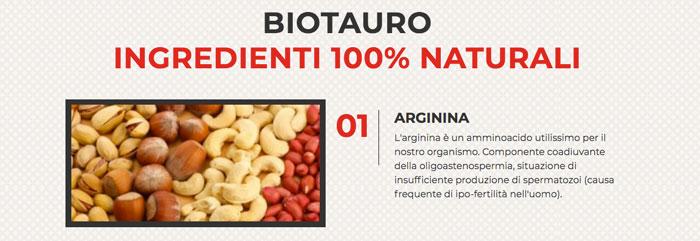 bio tauro ingredienti